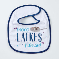 """More Latkes Please"" Bib"