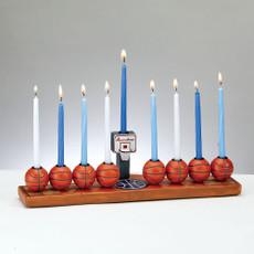 Basketball Poly Resin Menorah