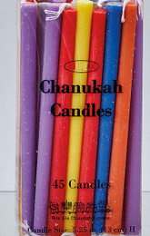 Assorted Colors Deluxe Chanukah Candles