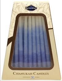 Blue & White Drip-Less Chanukah Candles