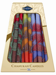 Blue, Yellow and Red Drip-Less Chanukah Candles