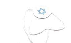 Baby B'rit Kippah With Blue Star
