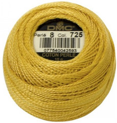 Pearl Cotton Size 8 - #725 Yellow