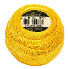 Pearl Cotton Size 8 #973 Canary Yellow