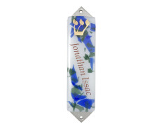 Personalized Mezuzah by Beames Designs! -  Blue/Green