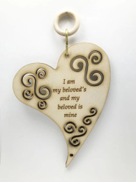 """Laser Cut """"I Am My Beloved's"""" Wall Hanging"""
