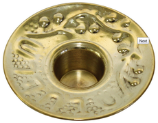 Brass Drip Cups With Design For Shabbat Candles