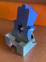 3-D Printer Hamsa Phone Stand With Cut-Out Star