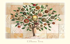 The Mosaic Tree of Life Boxed New Years Cards