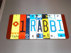 """#1 Rabbi"" License Plate Sign"