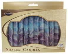 Safed Blue Tones and Purple Fantasy Shabbat Candles