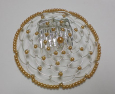 Gold Beaded Wire Head Covering