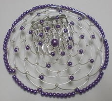Purple Beaded Wire Head Covering