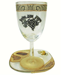 Lily Art Glass Kiddush Cup mglakcbn