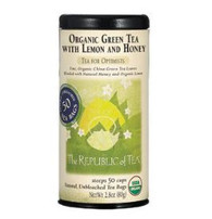Organic USDA Green Tea with Lemon and Honey Tea Bags