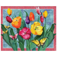 Magic Slice Cutting Board - Tulips with Butterflies