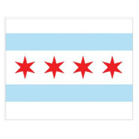 Magic Slice Cutting Board - Chicago Flag