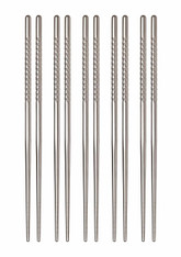 Helen's Asian Kitchen Stainless Steel Chopsticks 5 Pair