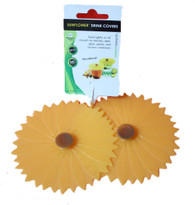 Charles Viancin pair of cup lids Sunflower pattern