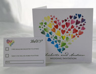 In my heart of Hearts Sidefold Invitation & RSVP card