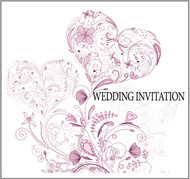 Vintage Heart Double Sided Invitations
