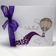Love is in the Air Sidefold with  Purple Organza ribbon