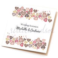 Love Sweet Love Sidefold Invitations