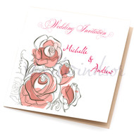 Flowers Sidefold Invitations (any colour)