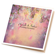 Cherry Watercolour Sidefold Invitation