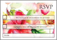 Watercolour Roses RSVP postcard