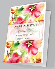 Watercolour Roses Order of Services
