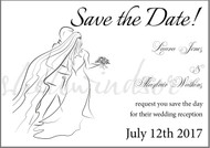 Bride and Groom Save the Dates