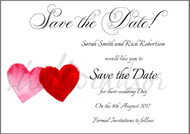 Painted Love Save the Date Cards