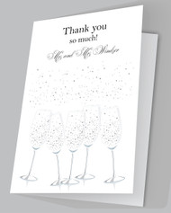 Champagne Thank you cards