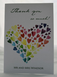 Heart of Hearts thank you card