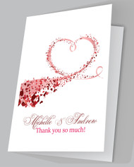 Heart Swirls Thank you Cards