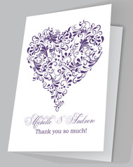 """Isabelle"" Heart Thank you card"