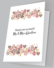 Love Sweet Love Thank you Cards