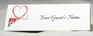Heart Swirl Place name Cards