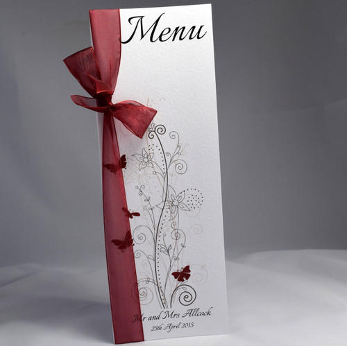 Butterfly Menus - Shell Windsor Stationery