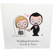 Couple Portrait: 2 Sided Invitation