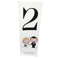Couple Portrait: Table Numbers