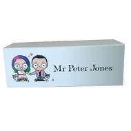 Couple Portrait: Place name Card with Guest Name
