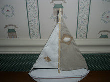 "DEPT 56. COAST NATURAL SAILBOAT DECOR-NEW-10""H"