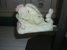 DEPT. 56-SNOWBABIES PORCELAIN FIGURINE-BLESS THE ANIMALS