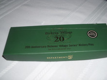 DEPT. 56 DICKENS VILLAGE-2003 LIMITED EDITON  20TH ANNIVERSARY SET OF 6  HISTORY PINS-NEW IN BOXN