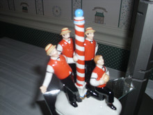 DEPT. 56- SNOW VILLAGE CERAMIC ACCESSORY-THE FLAT TOPS BARBERSHOP QUARTET.