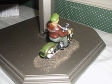 DEPT. 56- SNOW VILLAGE HALLOWEEN HARLEY DAVIDSON RESIN ACCESSORY-GHOST RIDER ON THE ROAD