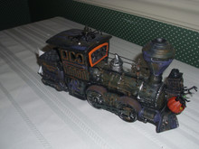 DEPT. 56 SNOW VILLAGE- HALLOWEEN-WITCH HOLLOW-HAUNTED RAILS-ENGINE & COAL CAR