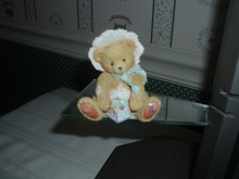 CHERISHED TEDDIES-BABY BEAR WITH BLOCK FIGURINE-BOBBIE